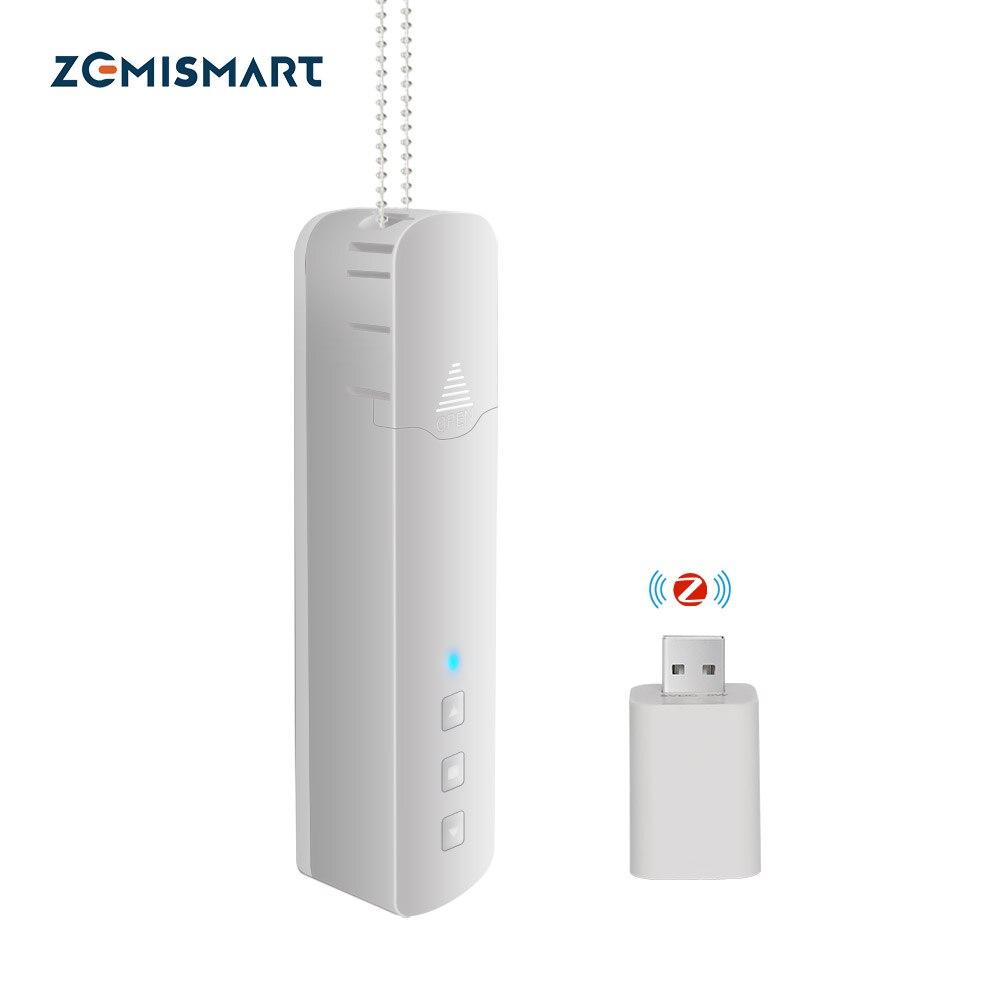 Zemismart Tuya Zigbee Roller Shade Driver SmartThings Control Built in Battery Blind Motor Alexa Google Assistant Voice Control